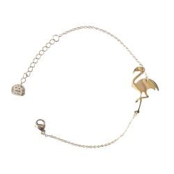 Bracelet chaîne, flamant...