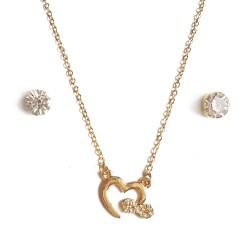 Pendentif doré cœur et nœud...