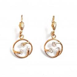 Boucles d'oreilles dorées 3...