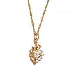 Pendentif coeur doré