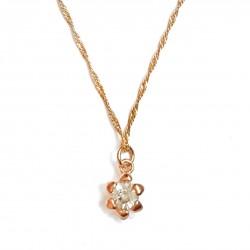 Pendentif doré diamant unique