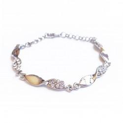 Bracelet chaîne, torsadé et...