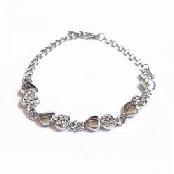 Bracelet chaîne, cœurs...