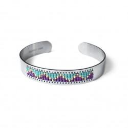 Bracelet manchette, perles...