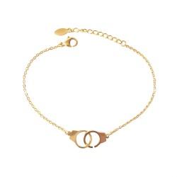 Bracelet chaîne, double...