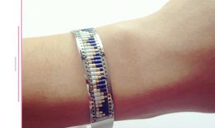 Restez fashion avec votre bracelet manchette en acier!