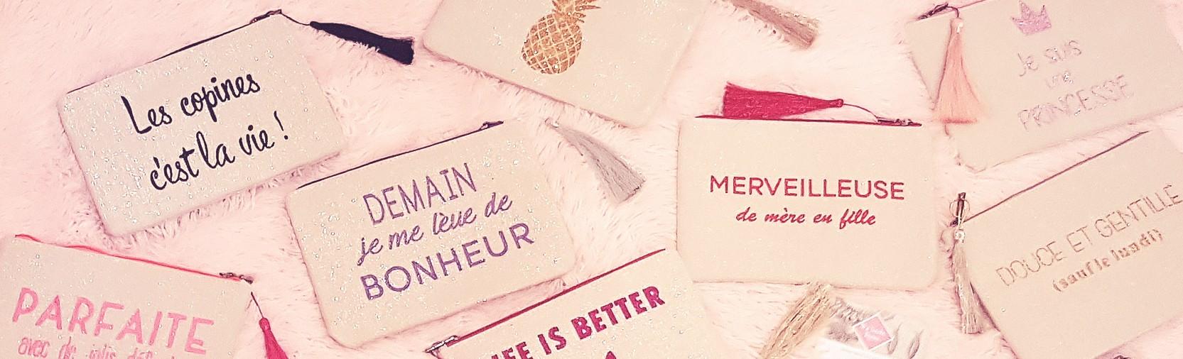 A la recherche d'un cadeau? Vous trouverez sur matouchebijoux.com la pochette tendance qu'il vous faut! Un message unique et personnalisé à offrir.