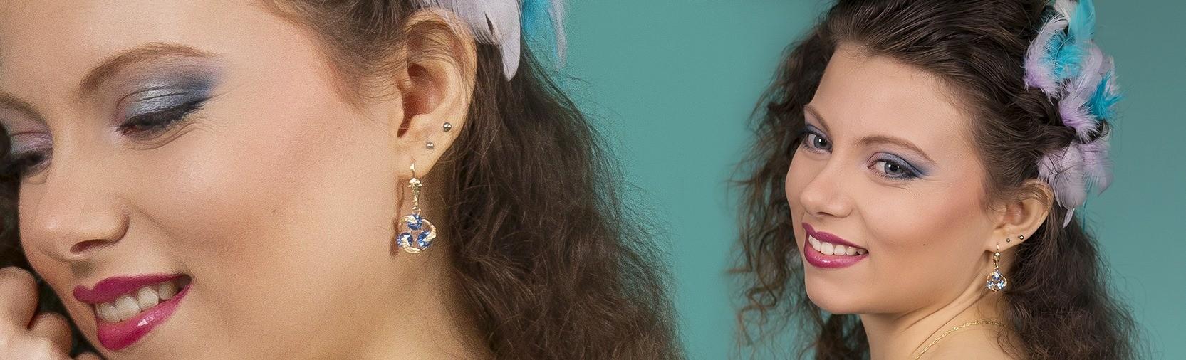 """Nos bijoux portés par la magnifique Marine Duhamel, prise par la photographe Amélie Devit et habillée par """"Et le temps s'arrête"""""""